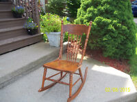 Vintage Hardwood Rocking Chair