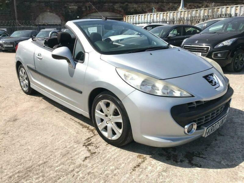 2007 07 PEUGEOT 207 CC 1.6 SPORT COUPE CABRIOLET HDI 2D 108 BHP DIESEL