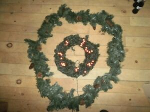 Christmas wreath and garland