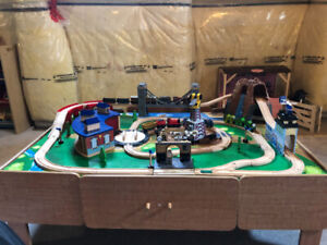 Imaginarium train table with thomas trains
