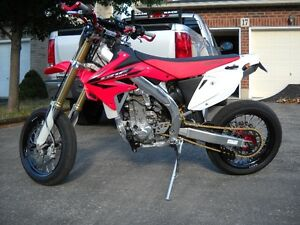 CRF450X - SUPERMOTO - BLUE PLATED