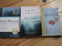books $5 each or all three for $10