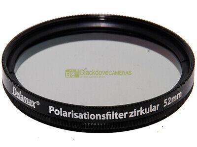 52mm. filtro polarizzatore circolare Delamax per obiettivi. Polarizer filter.