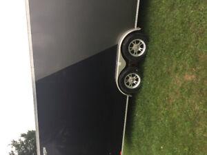 2017 7x27 all aluminum enclosed trailer