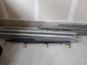 Galvanized 2x4 studs 2x6x5 steel plus lawn mower