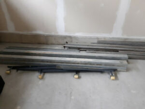 Galvanized square tubing and 2x4 studs