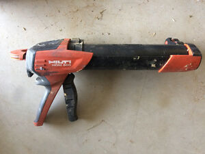Hilti 2 part epoxy applicator.
