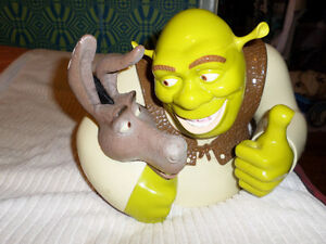 Shrek and Donkey Cookie/Candy Talking Bowl