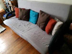 Structube sofa bed, queen size, grey,