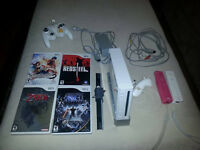 Nintendo Wii and Accessories with 4 Games
