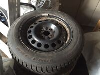 Set of two Rovelo winter tires with rims