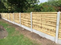 🔨🌟New Excellent Quality Waneylap Tanalised Wooden Fence Panels