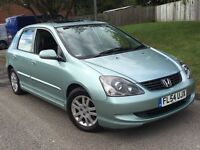 Honda Civic 1.6 VTEC EXECUTIVE 2005 + FULL SERVICE HISTORY + 3 MONTHS WARRANTY + MOT MARCH 2017