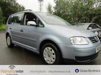 VOLKSWAGEN TOURAN S TDI 7 STR, Blue, Manual, Diesel, 2006 2 KEYS GREAT DRIVE,