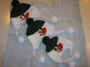 New Baby/ Child Snowman Winter Caps