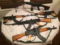 5 replica AK-47 paintball guns