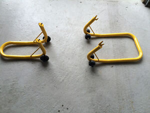 Front and Rear Motorcycle / Bike Stand