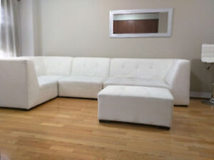 White Sectional sofa $250