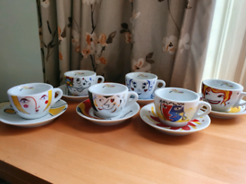 Coffee Cup Set-6people (New, Still in package)