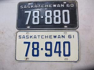 1960 1961 Sask License Plates
