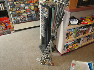 16 Assorted Golf Clubs (Some Left Handed) For Sale