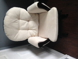 LIke new glider rocker with ottoman for sale .