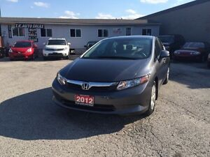 2012 Honda Auto Sedan BLUETOOTH CERTIFIED & ETEST