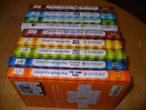 9 HARD COVER Diary of A Whimpy Kid Books