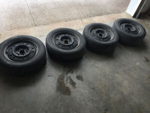Winter Tires on Steel Rims (from Kia Soul) - $600