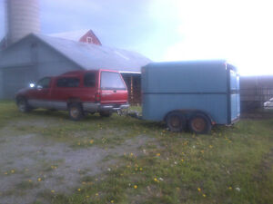 Dodge Truck and Stock Trailer