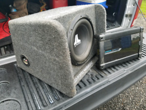JL Subwoofer and Clarion Amp