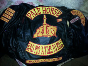 PALE HORSE motor cycle club no pig's or agencies need inquire