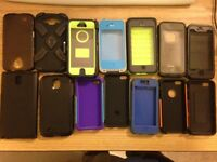 iphone/Samsung cases for 4 to 6, otterboxes lifeproof boxes..