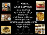 Catering grocery and cooking services