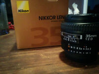Nikon Nikkor 35mm F2 D AF-D Lens In Box
