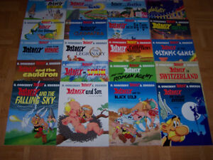 20 ASTERIX - large softcovers- excellent cond by R. Goscinny