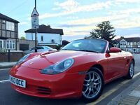 2003 PORSCHE BOXSTER 2.7, 986, RED,ONLY 26,000 MLS FPSH,MOT,PRISTINE IN & OUT..