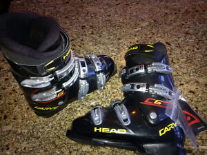 New Atomic downhill Skis Tyrolia Bindings Head Boots Gabel poles Peterborough Peterborough Area image 2