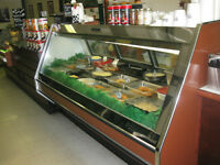 deli cases and counter tops for bistro setup