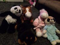 5 soft toys