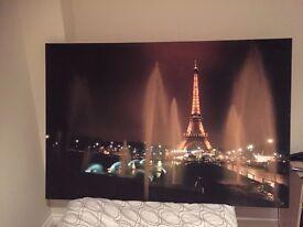 Large canvas Paris picture
