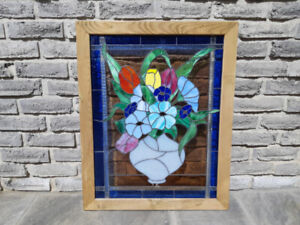 Stained Glass Window Hanger Panel
