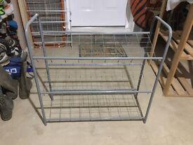 3 tier metal shoe rack storage