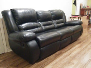 Used Black Leather Sofas