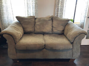 Sofa, loveseat, coffee table and end tables