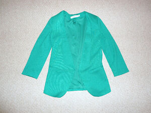 New Rickis Blazer - Open Front, Emerald Green - Size XS