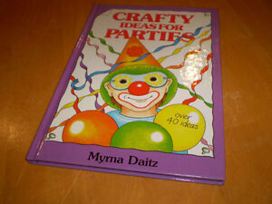 HARD COVER BOOK CRAFTY IDEAS FOR  CHILDRENS PARTIES Windsor Region Ontario image 1