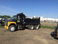 Gravel truck dump truck
