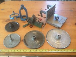 lathe, tablesaw, drill press, tooling, jigs, parts, etc...