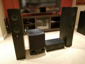 PSB Speakers AlphaC Centre,AlphaT Towers,SubSonic 5i Subwoofer
